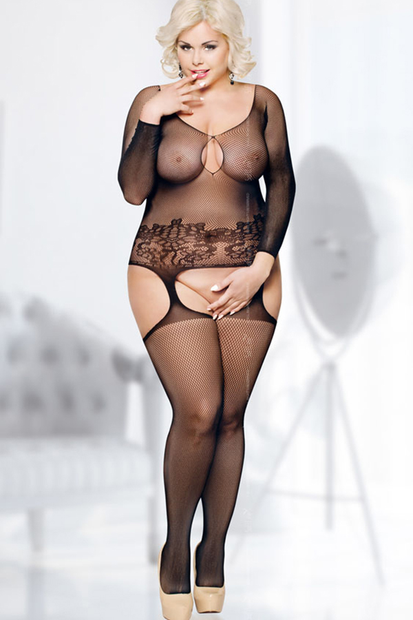 Women Blonde Tanned Ass Belly Curvy Portrait Black Lingerie Mirror Primecurves 1
